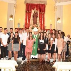 bertolone e i giovani della parrocchia