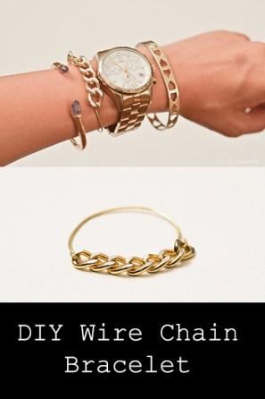 diy chainbracelet