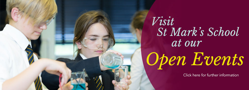 Open Events at St Mark's School, Bath, for 2016