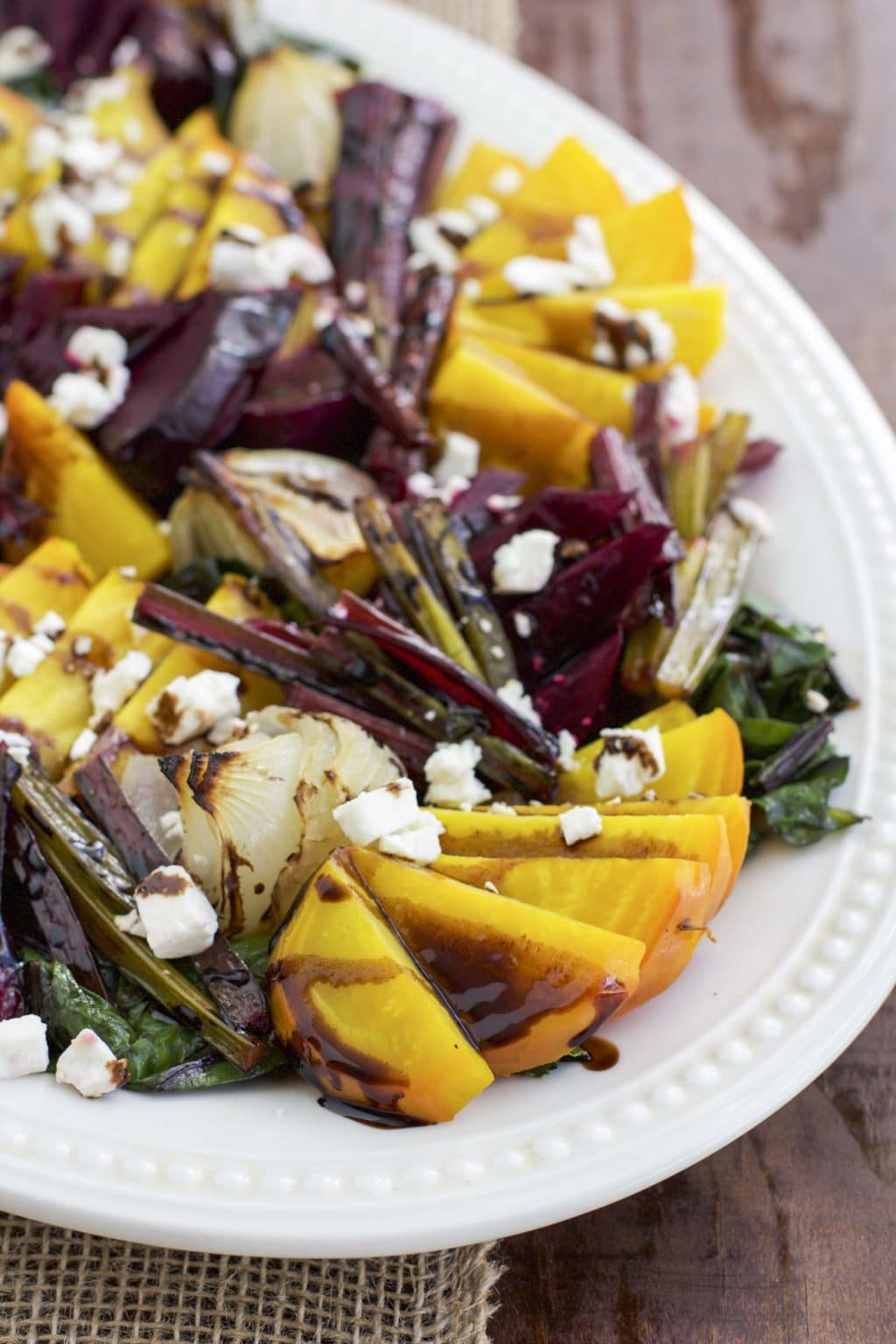 Roasted Beets With Caramelized Onions And Feta Recipe ...