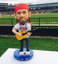 Willie Nelson Bobblehead - Red Rock Express - Texas Rangers