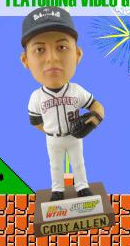 cody allen bobblehead - mahoning valley scrappers - cleveland indians