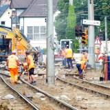 Bauarbeiten nähe der Sundgaubrücke
