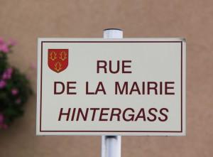 Sogar eine Hintergasse gibt es in Griesheim-sur-Souffel