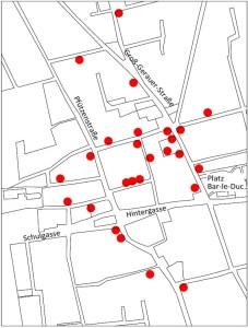 Lageplan der Fachwerkhäuser