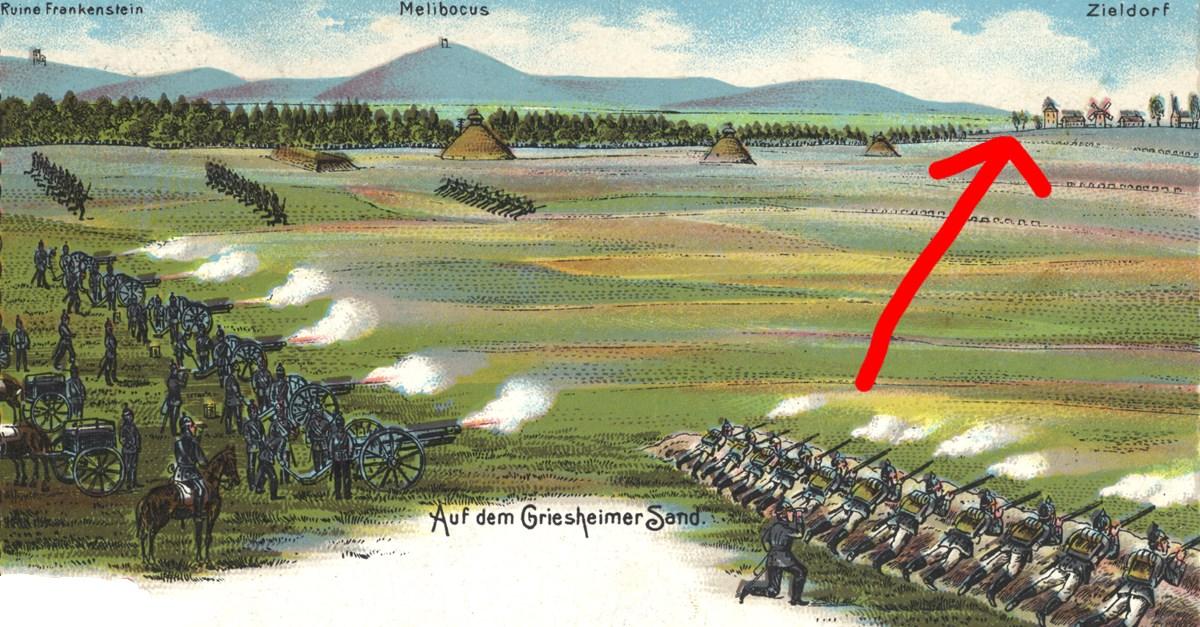 Eine Festung in den Griesheimer Dünen