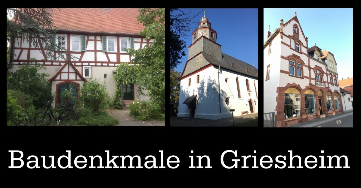 Liste der Baudenkmäler in Griesheim