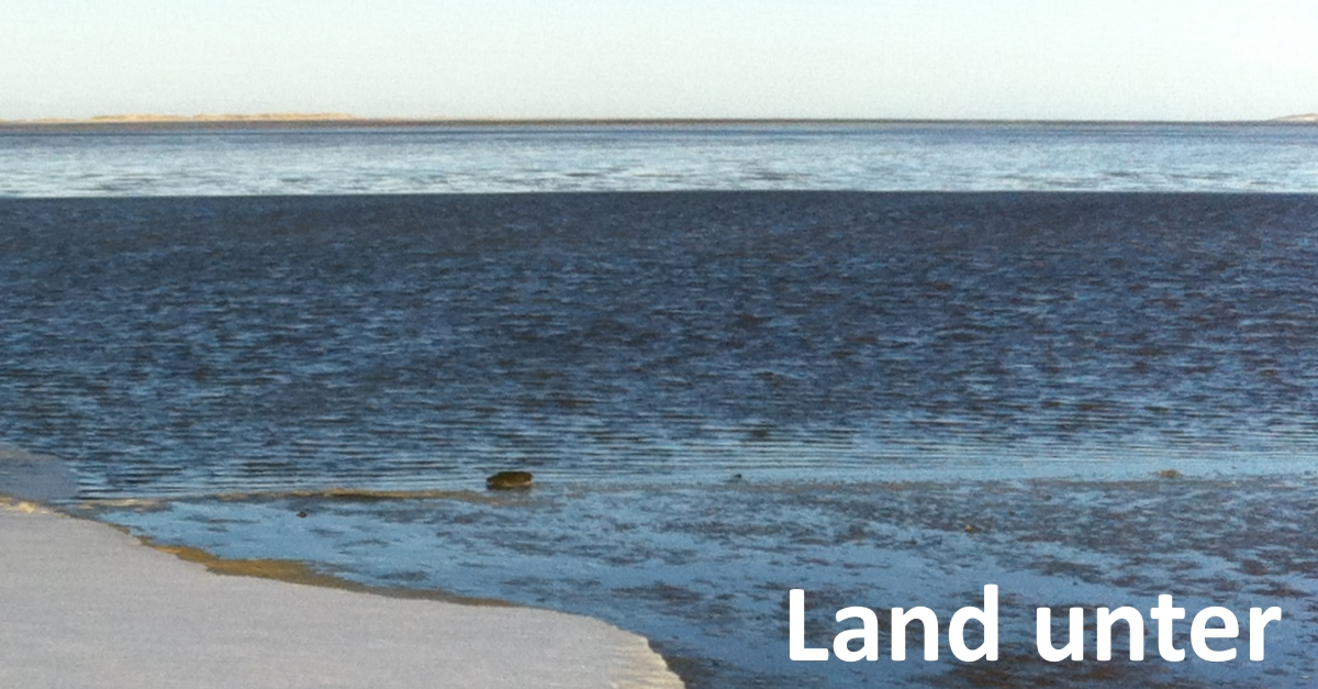 Land unter – Das Neujahrshochwasser