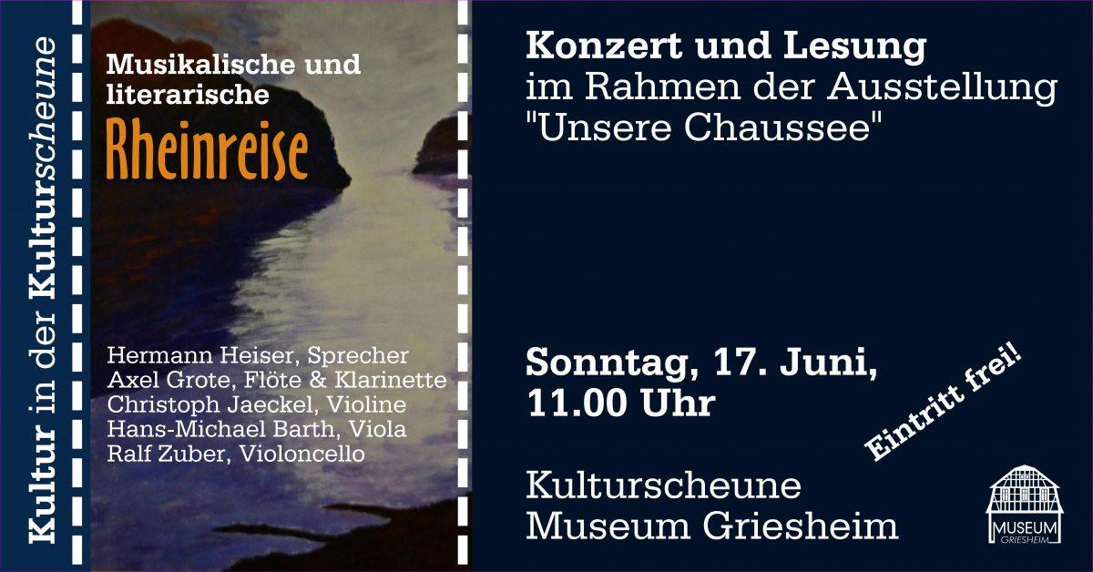 """Kultur in der Kulturscheune: """"Rheinreise"""""""