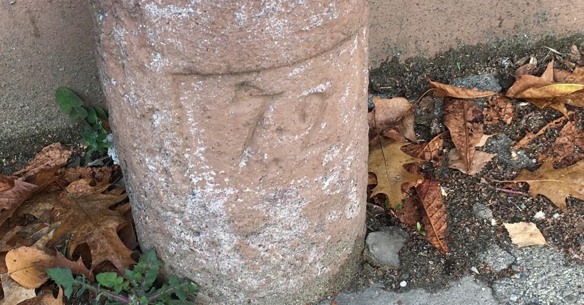 Fundstück im Stadtgebiet: Ein Kilometerstein
