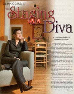 Debra Gould in Center of the City Magazine