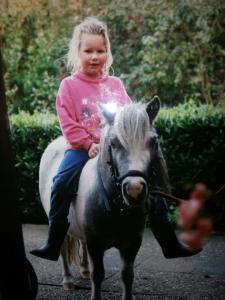 4 jarige ik met Silvie