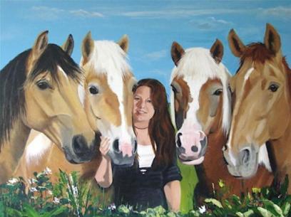 Dit schilderij maakte mijn moeder voor mij! Turbo Stella Morris Oregon