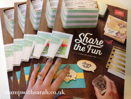 Stamp with Sarah Berry Stampin Up UK 2015 2016 Annual Catalogue Pile