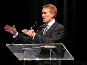 Lankford Speaking at Rally