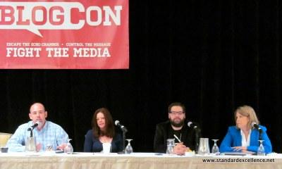 four panelists at blogcon