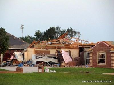 home damaged by tornado
