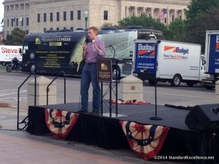 James Lankford on stage at Tea Party rally