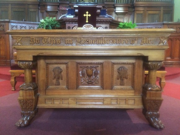 The Holy Table of St. Andrew's 'Do this in remembrance of me'