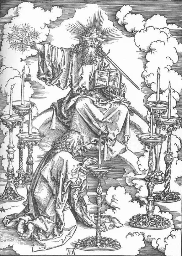 Vision of the Seven Candlesticks - Albrecht Durer, 1498