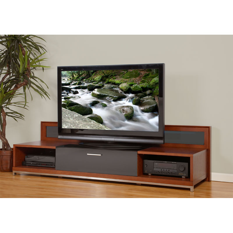 View A Larger Image Of The Plateau Valencia Series Backlit Modern Wood TV  Stand For 51 Tv Stand 80 Inches Wide U18