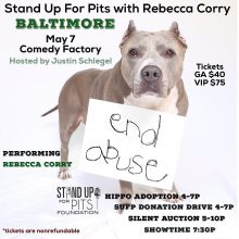 Stand Up For Pits BALTIMORE tickets going fast!!