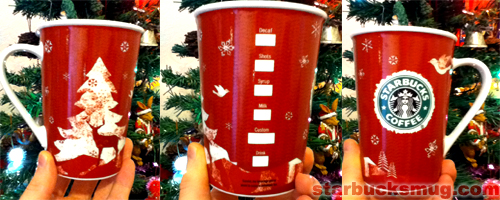 Starbucks Coffee 2008 Christmas Mug