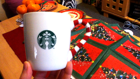 Starbucks Christmas 2011 Candy Cane Mug