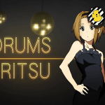 k-on - ritsu - drums