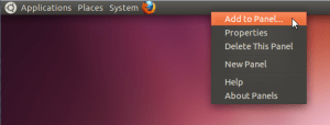 ubuntu - add to panel
