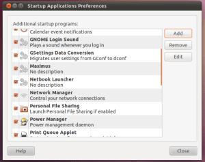 Ubuntu Startup Applications Preferences