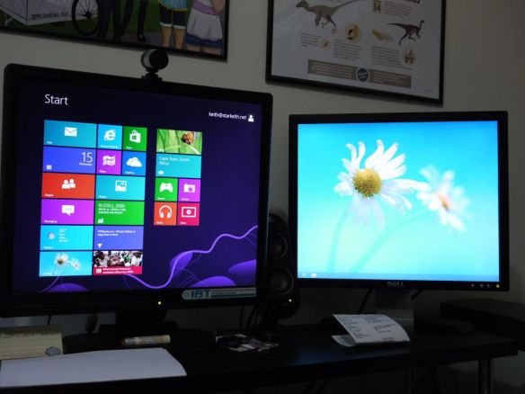 windows 8 on dual monitors