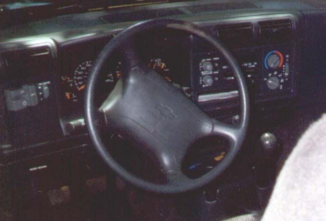 truck's instrument cluster