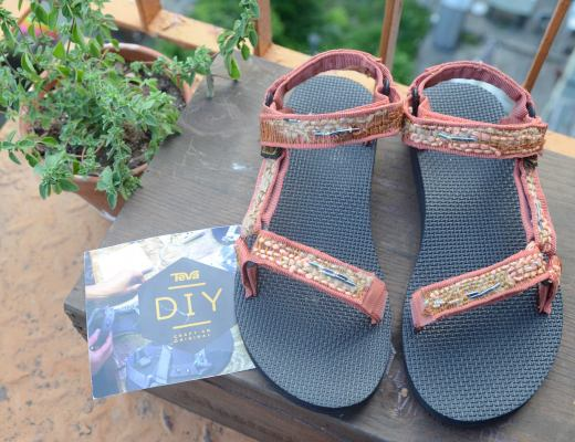 DIY Teva Sandals project