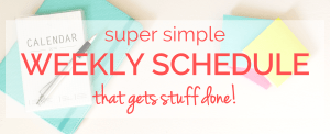 super simple weekly schedule banner