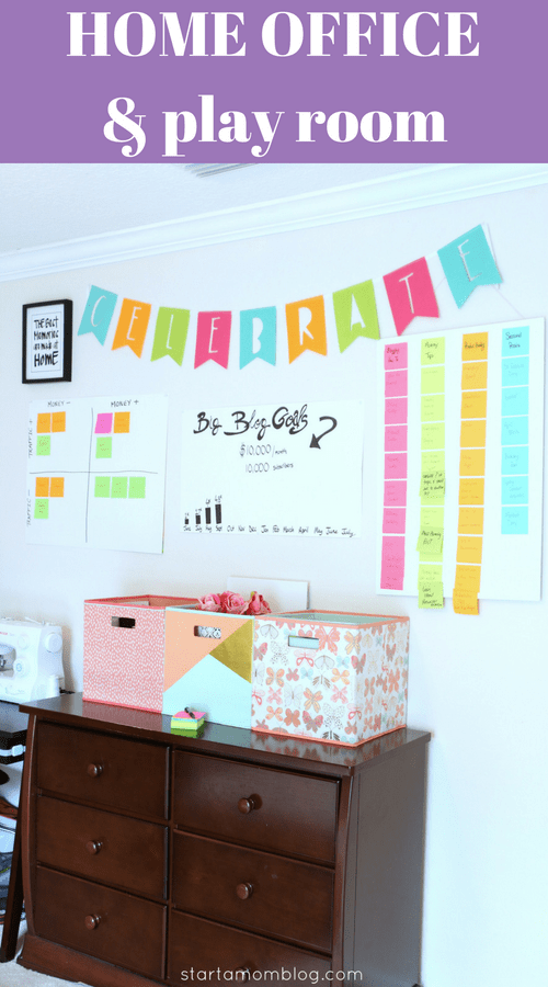 Home Office Play Room Blog Vision Goals Mission Board www.startamomblog.com