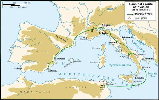 Hannibals route