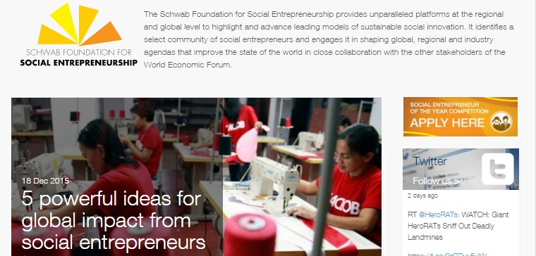 Schwab Foundation For Social Entrepreneurship Fellowship StartupDotPk