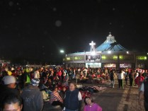 A shot of the gathering crowd of pilgrims outside the Basilica of Our Lady of Guadalupe. Source: Chris Crews (Attribution via chriscrews.com)
