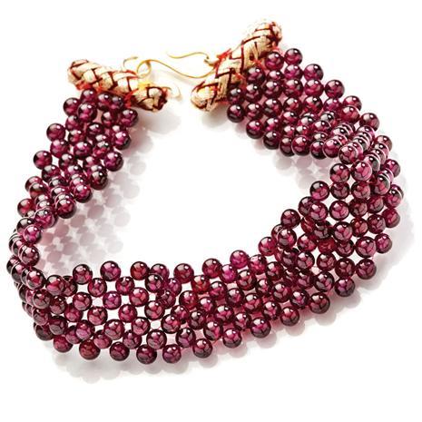 Garnet Garland Bracelet