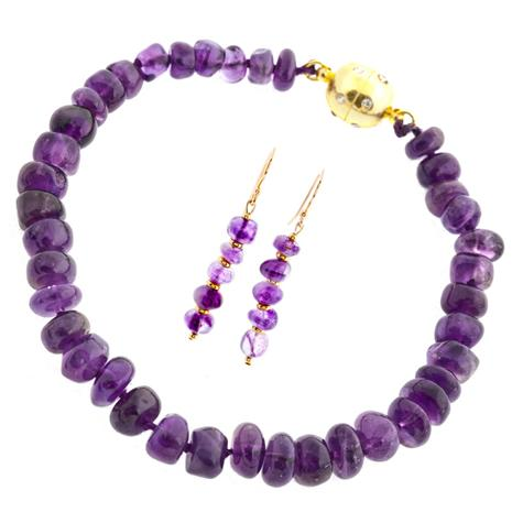 Amethyst Maiden Bracelet & Earrings Set