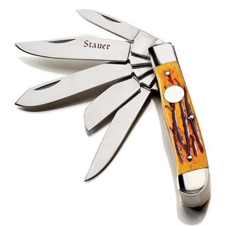 Honey Bone Handle Trappers Knife