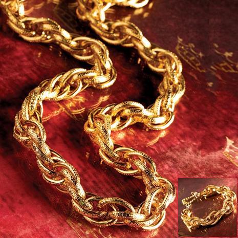 Leger Gold-finished Necklace & Bracelet Set