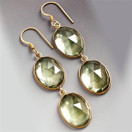 Helena Green Amethyst Earrings