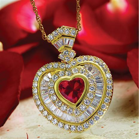 Cupid Heart Pendant & Chain Set