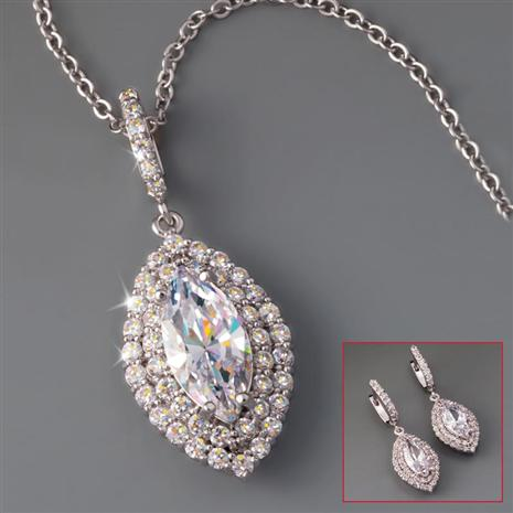 DiamondAura Maravilla Necklace & Earrings Set