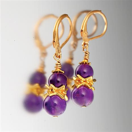 Tyrian Amethyst Earrings