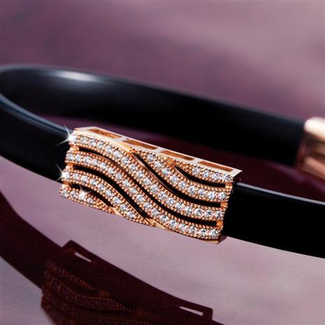 Bibi Rose Gold-finished Wave Bracelet