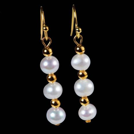 Katsuyama Organic Cultured Pearl Earrings