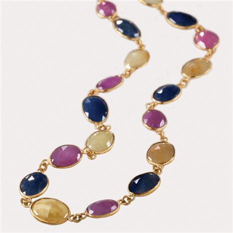 La Velata Multi Sapphire Necklace